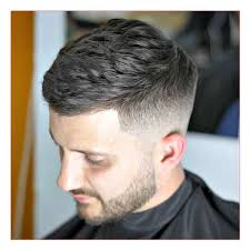 mens fohawk haircut and side swept cropped haircut with low fade