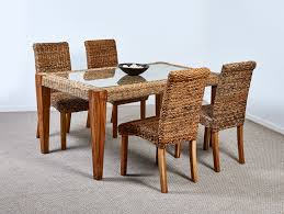 abaca milan dining table and 4 chairs