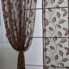 anself 2pcs warp knitting yarn elegant window door curtains sales