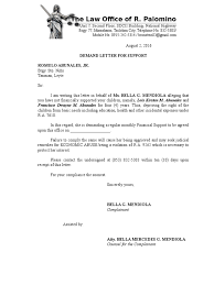 Demand Letter From Attorney Sample by Demand Letter For Support