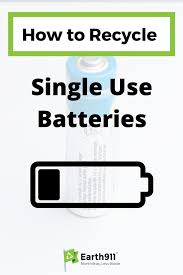 recycle single batteries earth911