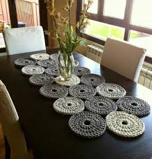 table runners for dining room table modern dining room with crochet table runner instructions to
