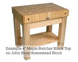 john boos maple end grain butcher block island top 2 25