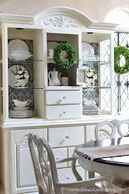 Decorating A Hutch Decorating For Spring Using Baskets A Decorating Challenge