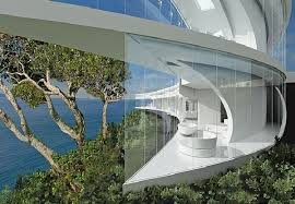 Glass Wall House by The Mahina House Design U2013 Futuristic Mansion Of A Bond Movie In