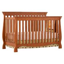 Oak Convertible Crib Stork Craft Venetian 4 In 1 Fixed Side Convertible Crib Oak