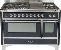 Matte Appliances Ilve Um120fdmpmx 48 Inch Majestic Series Dual Fuel Freestanding