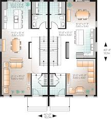 multi level home floor plans narrow lot multi family home plan 22327dr architectural