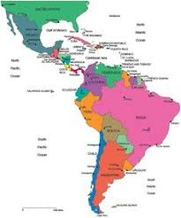 map of south america blank map of central and south america printable teaching ideas