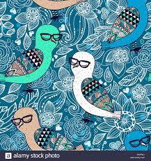 Decorative Owls by Vector Seamless Pattern With Decorative Owls On A Floral