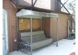 furniture cool patio glider with canopy and outdoor glider with