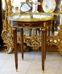 neoclassical style french neoclassical style bouillote table in mahogany with brass