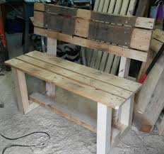 Patio Furniture Made Out Of Wooden Pallets by Bench Bench Made Of Pallets Old Pallets Project Diy Little Bench