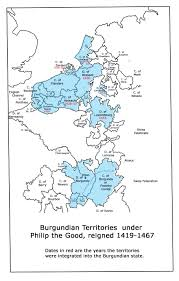 Map Of Burgundy France by Introduction To Valois Burgundy