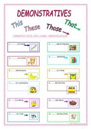 176 free esl pronouns this that these those demonstratives