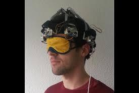 Blind People Glasses Proximity Hat Lets Blind People U0027feel U0027 Spaces E U0026t Magazine