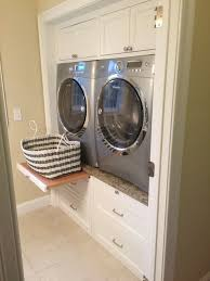 Laundry Room Storage Between Washer And Dryer Enclosed Washer And Dryer Ideas Transitional Laundry Room