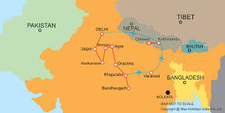map of nepal and india highlights of india nepal tour max holidays