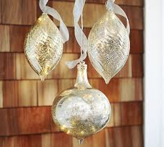 lit mercury outdoor ornaments set of 3 pottery barn