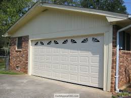 exterior design exciting clopay garage doors for inspiring garage traditional garage design with white clopay garage doors and brick wall