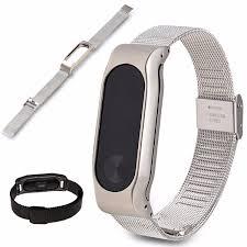 stainless steel buckle bracelet images Replacement stainless steel frame bracelet wristband for xiaomi jpg