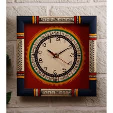 buy unravel india warli painted wooden wall clock online