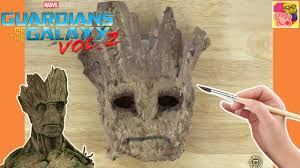 how to make a groot mask from guardians of the galaxy paper