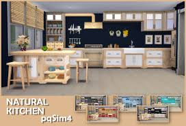 sims 4 cc s the best natural kitchen by pqsim4 natural kitchen by pqsim4