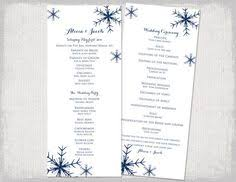 winter wedding programs winter wedding program template by paintthedaydesigns