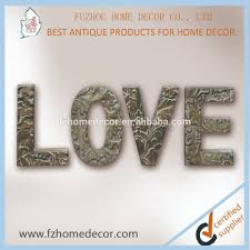 very popular decorative wood art wooden words love stand on the