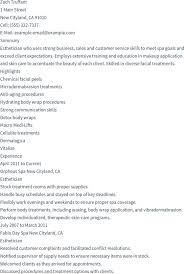 esthetician resume exle 100 esthetician resume sle it help desk resume free customer