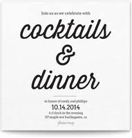 Cocktail Dinner Party - dinner party invitations pingg com