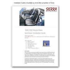 nissan accessories installation guides 1990 1996 mazda miata front seat cover kit u2014 black or tan