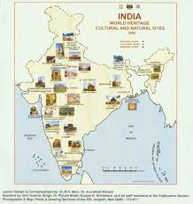 North India Map by World Heritage Monuments Of India