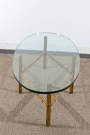 Oval Glass Coffee Table by