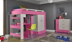 lit mezzanine enfant avec bureau lit combiné surélevé avec bureau et rangements vera