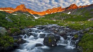 ice lake basin at dawn san juan mountains colorado desktop