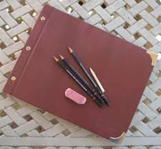 Art Leather Albums Leather Sketchbook Art Portfolio And Album With Removable Pages