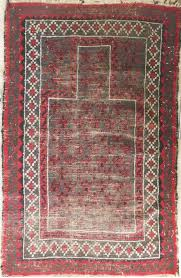 semi antique afghan baluchi prayer rug 100 wool 3 u0027x 4 u00277