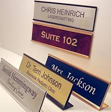 Office Desk Name Plate Personalized Office Name Plate With Wall Or Desk Holder 2x8