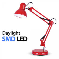 modern minisun led daylight energy saving desk table lamp red