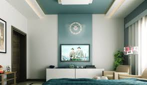 Wall Tv Design by Bedroom Design Bedroom Tv Storage With Blue Background On The