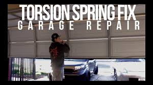 Overhead Garage Door Spring Replacement by How To Diy Garage Door Torsion Spring Replacement Youtube
