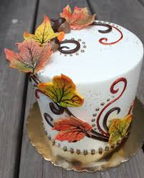 pretty thanksgiving day cake