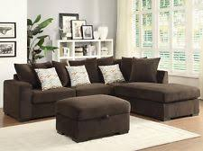 Chenille Sectional Sofa With Chaise Chenille Sectional Sofas Loveseats Chaises Ebay