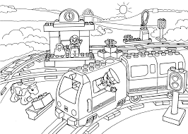lego train station coloring page for kids printable free lego