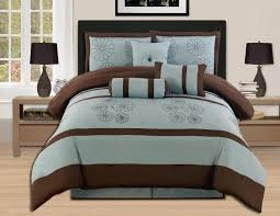 Teal King Size Comforter Sets 7 Pieces Luxury Embroidery Comforter Set Bed In A Bag Oversize