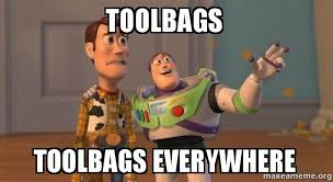 Meme Tool - toolbags toolbags everywhere buzz and woody toy story meme