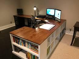 Corner Desk Diy White Cubby Bookshelf Corner Desk Combo Diy Projects