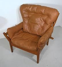 Danish Leather Armchair Magnus Olesen Danish Teak And Leather Chair